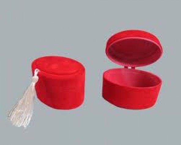 Flok Oval Kutu 1 Adetli Kırmızı