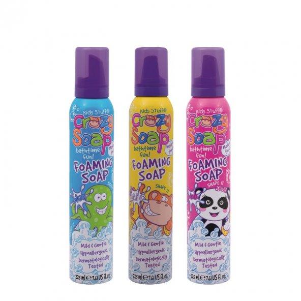 Crazy Soap Çocuklar İçin Renkli Banyo Köpüğü 3 Lü  225 Ml