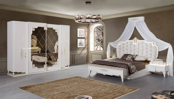 Roselan Cibinlikli Yatak Odası