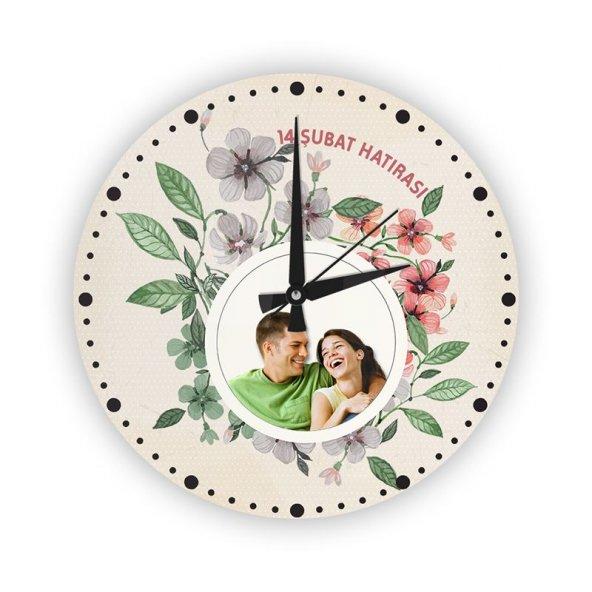Kişiye Özel Cam Duvar Saati (27 cm.) - 008