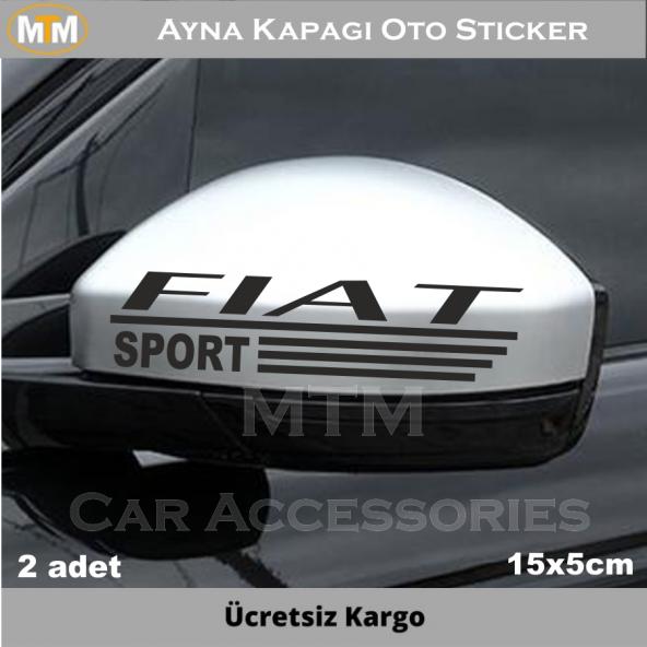 Fiat Ayna Oto Sticker (2 Adet)
