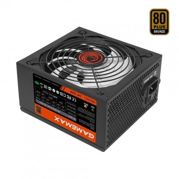 GAMEMAX GP-650 650W 80+ BRONZE GÜÇ KAYNAĞI