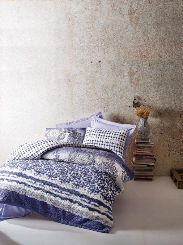 Cotton Box Ranforce Çift Kişilik Complete Set - Lucca Mavi