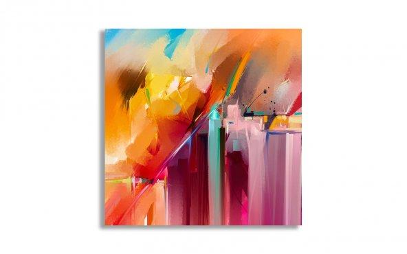 Renkli Soyut Yağlı Boya Kanvas Tablo