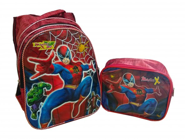 Süper Kahraman İlkokul Erkek Sırt Çantası Beslenme Çantası