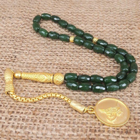 Bozkurt Yeşil  Renk  Doğal Taş Tesbih