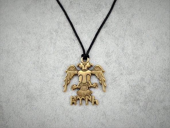 Göktürkçe Türk Kolye Gold