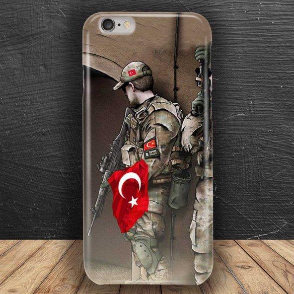 Her Modele Uygun yapılan Ülkücü türk bayraklı asker Telefon Kilifi