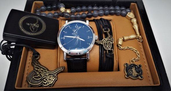 Osmanlı Tuğrası Ülkücü 5li Saat Kombin