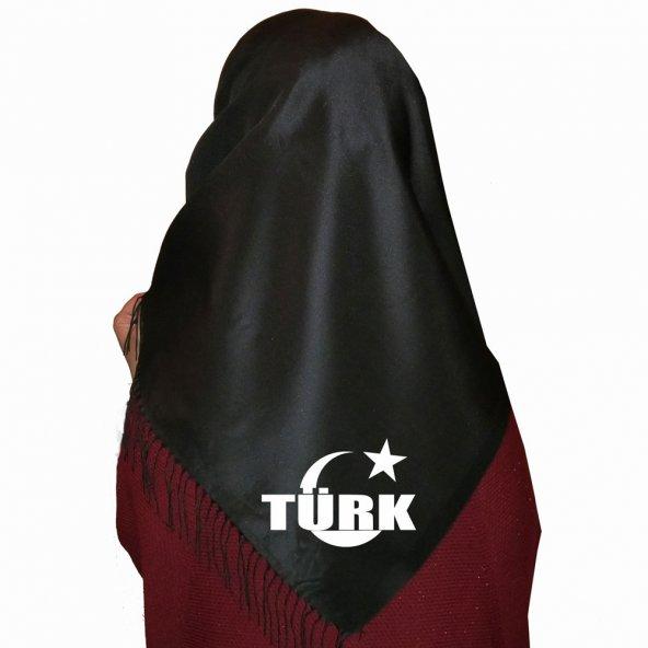 Siyah Ay Yıldız İçinde Türk Ülkücü Eşarp
