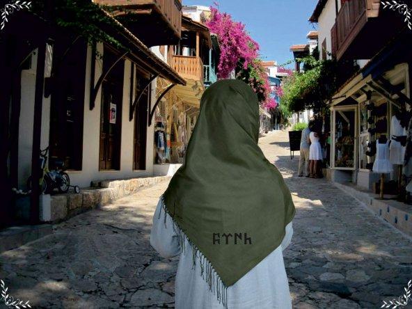 Yeşil Göktürkçe Türk  Şal/Eşarp