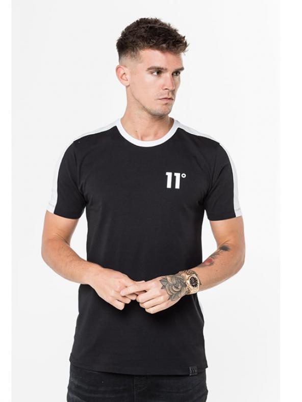 11° Erkek Oval Kesim Siyah Beyaz Block Retro Epic T-Shirt