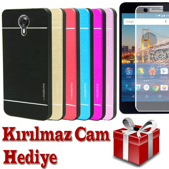 General Mobile 4g Android One Kılıf Motomo Cam