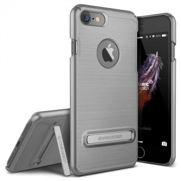 VRSDESIGN iPhone 7 Simpli Lite Series Kılıf Steel Silver