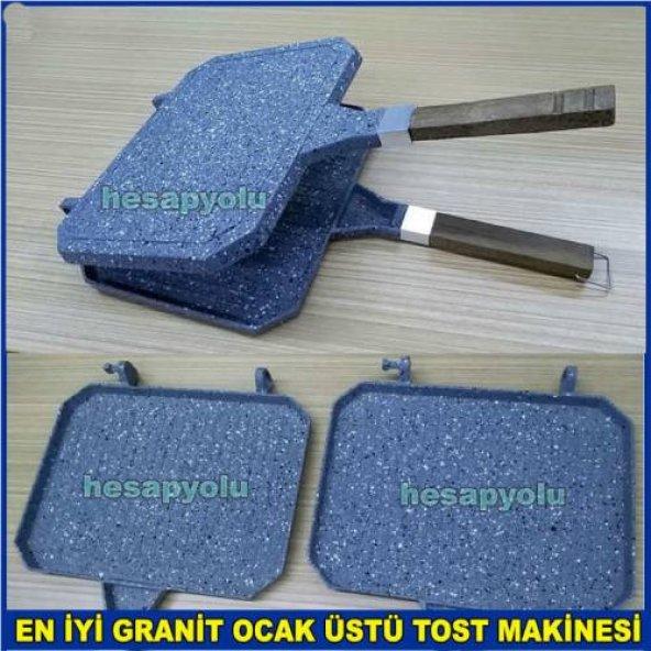 Ocak üstü tost+ızgara iç-dış yüzeyi 3 kat granit kaplama yanmaz y