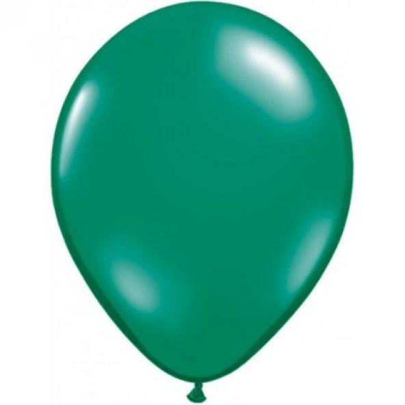 100 adet KİKAJOY Baskısız Pastel Balon Yeşil + Balon Pompası