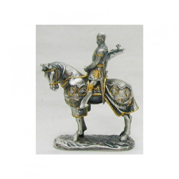 Hiper AT08156A2 Wise Metal Atlı Şövalye Dekoratif Biblo