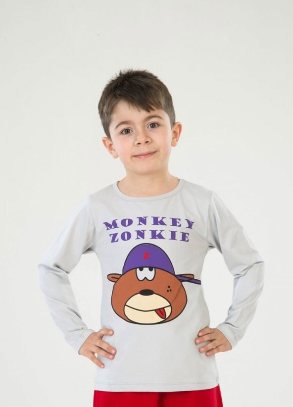 Monkey Uzun Kollu T-Shirt