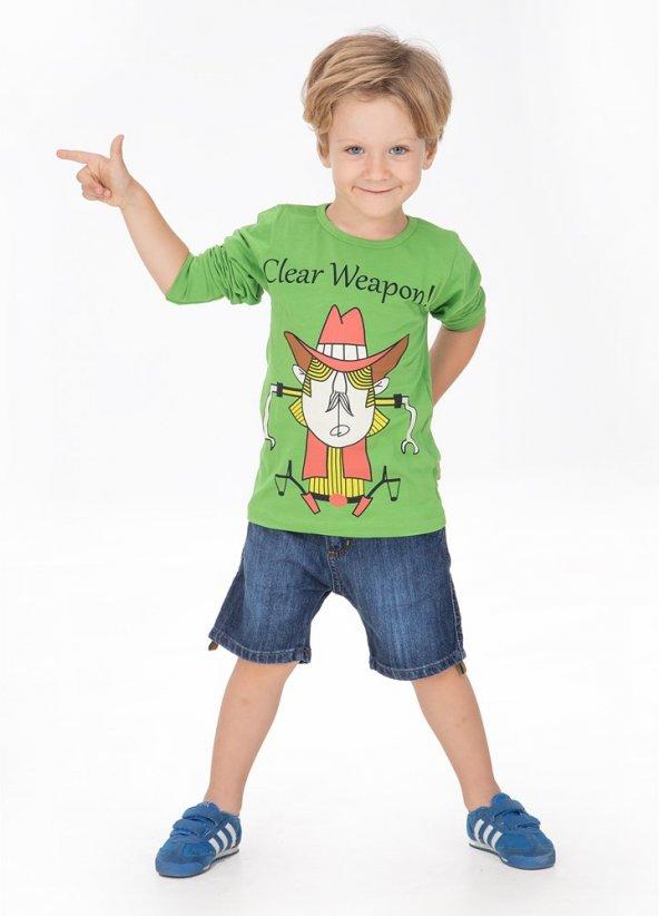 Bay Kovboy Uzun Kol T-Shirt