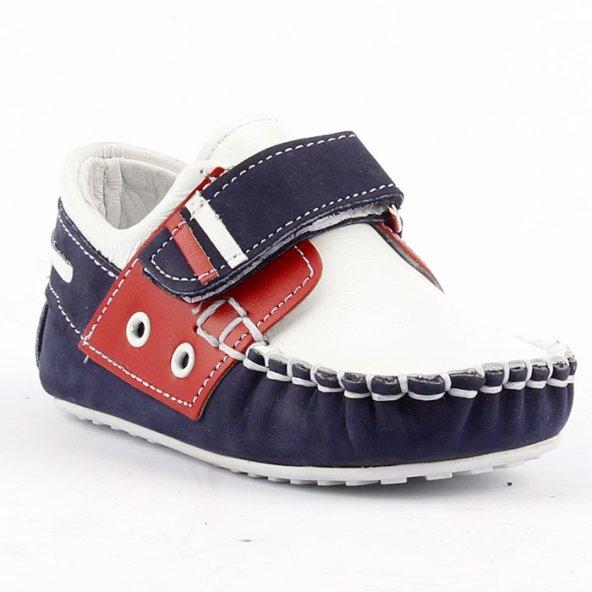 Teo Bebe 3500 100 Beyaz Deri Ortopedik Erkek Çocuk Ayakkabı