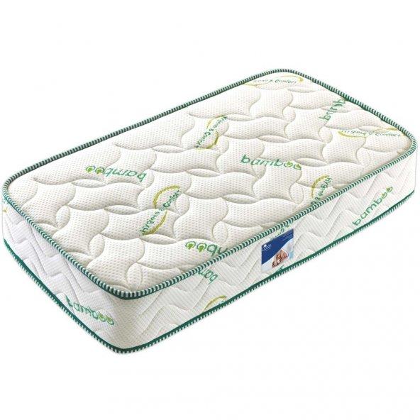 70x170 Bamboo Yatak Bebek Çocuk Ortopedik Yaylı Yatağı