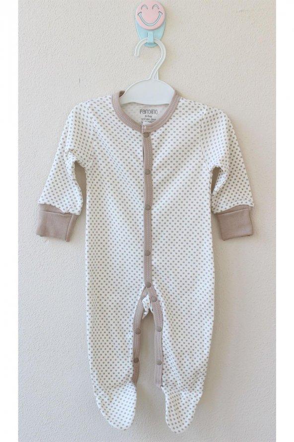 Puanlı Patikli Tulum Erkek Bebek Giyim