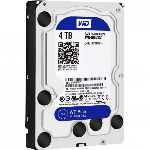 WD Blue 4TB 5400RPM Sata 3.0 64MB 3.5
