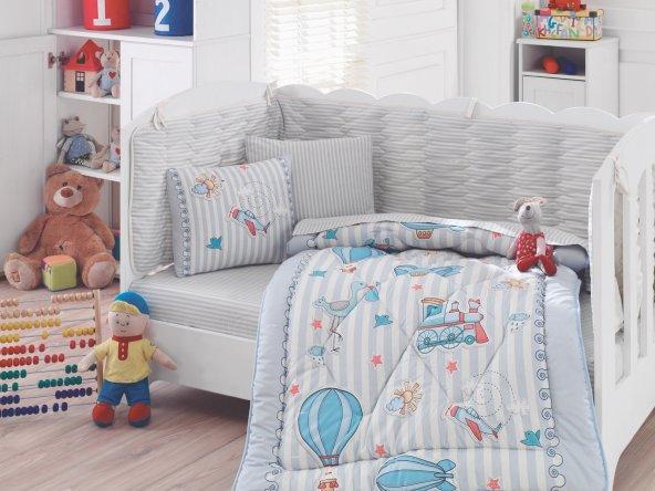 Cotton Box Gezgin Mavi Bebek Uyku Seti