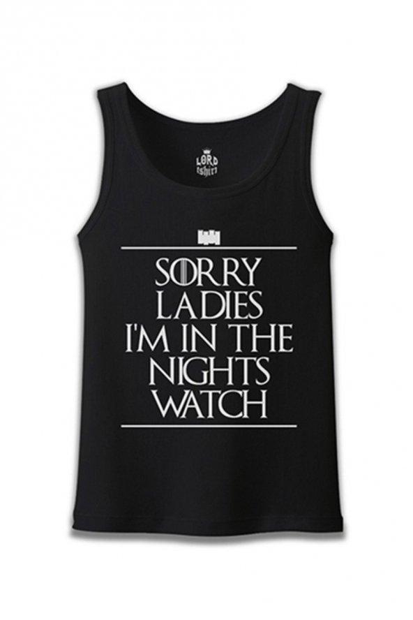 Game of Thrones - Sorry Ladies Siyah Erkek Atlet