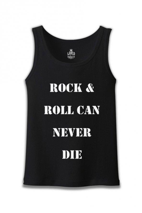 Rock & Roll Can Never Die Siyah Erkek Atlet