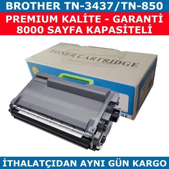 BROTHER TN-3437 TN-850 SİYAH MUADİL TONER 8.000 SAYFA