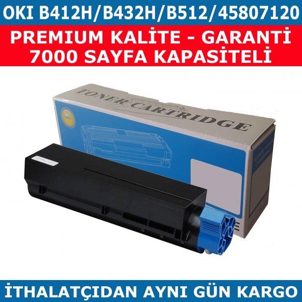 OKI B412H-B432H-B512H-45807120 MUADİL TONER 7.000 SAYFA