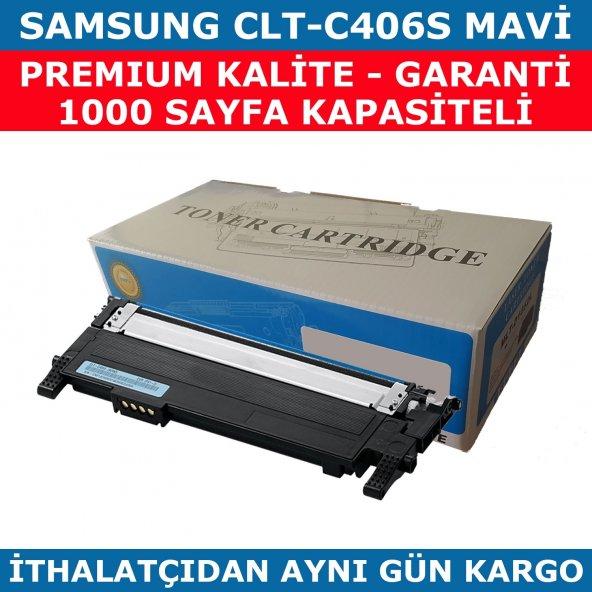 SAMSUNG CLP365-CLP360-CLT-C406S MAVİ MUADİL TONER 1.000 SAYFA