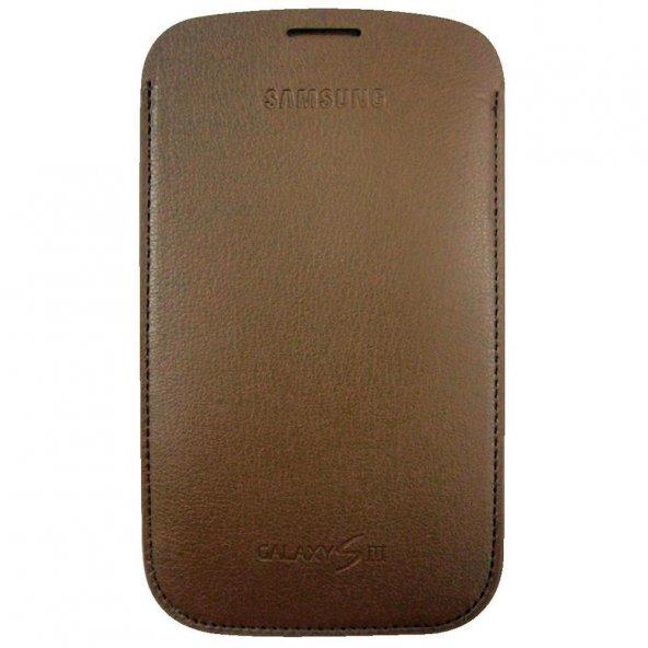 Samsung Galaxy S3 Pouch Kılıf Kahverengi