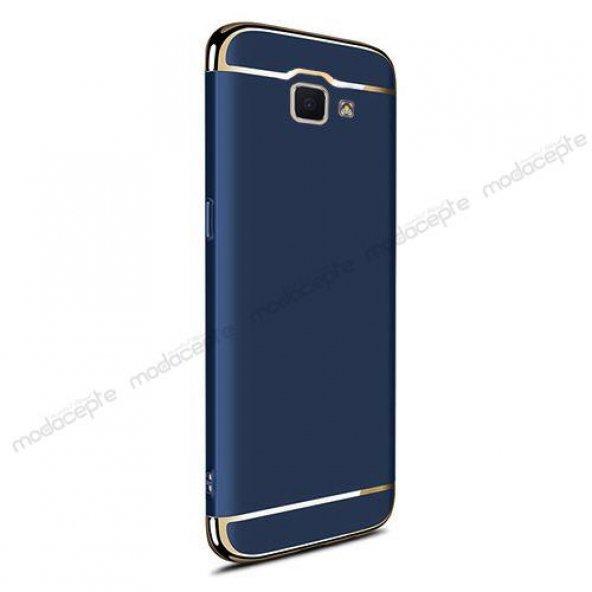 FitCase Samsung J7 Prime Kanvas Silikon Arka Kapak Lacivert