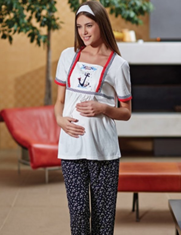 Eros 1162 Kısa Kol Lohusa Pijama Takım
