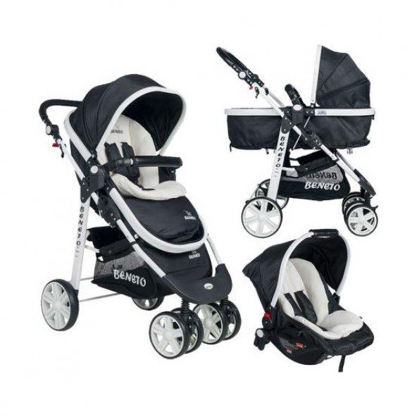Beneto 500 Tavel Sistem Pusetli Bebek Arabası YAĞMURLUK HEDİYE
