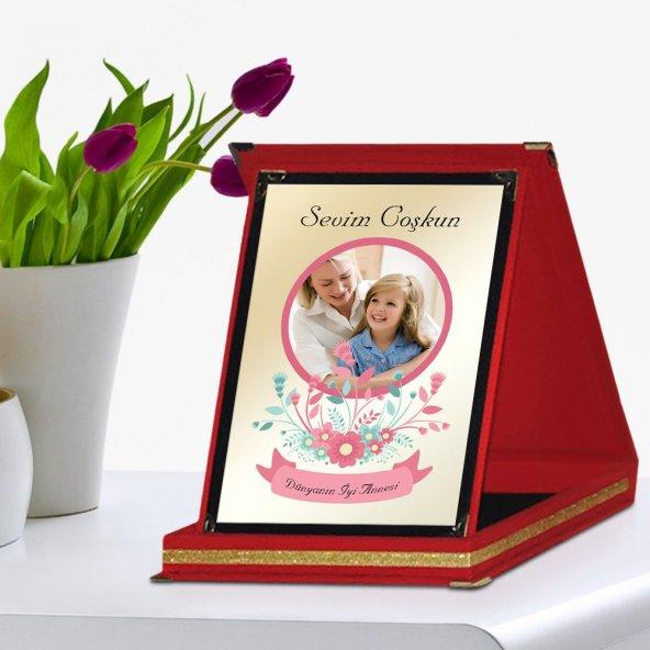 Kişiye Özel Kırmızı Plaket (Anneler Günü Temalı)  4