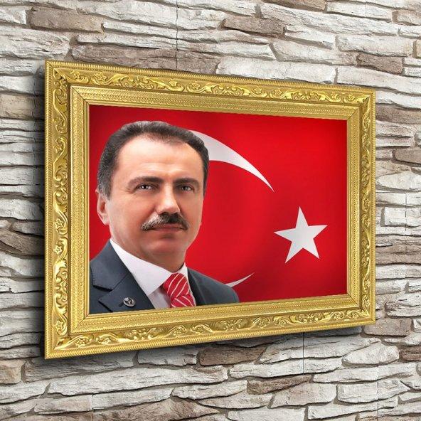 Muhsin Yazıcıoğlu Altın Yaldız Çerçeveli A4 Tablo - Yatay