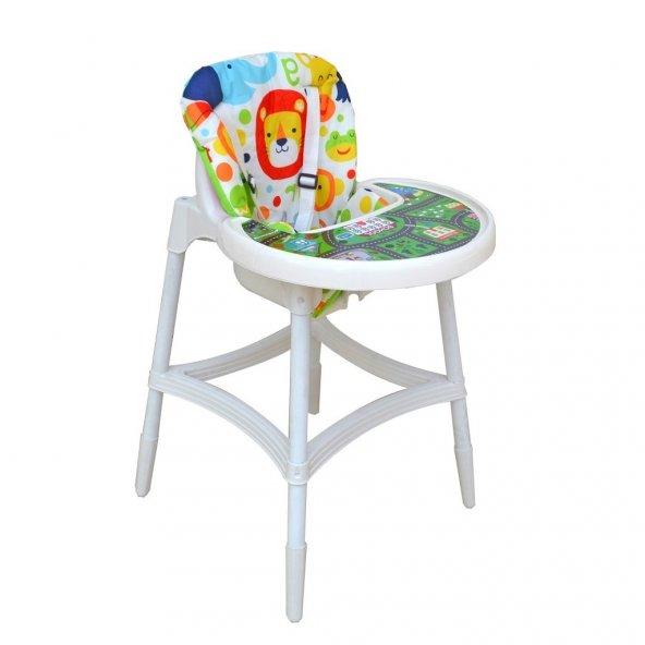 Norfolk Ultrafix Baby Dinner Mama Sandalyesi - Oyun Parkurlu - Sevimli Aslan