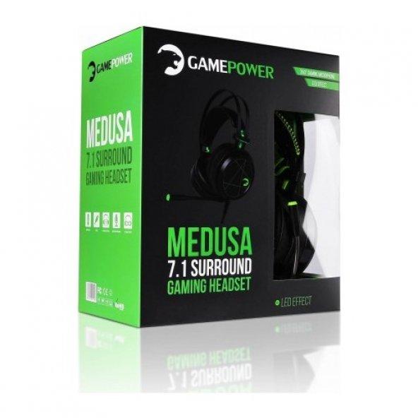 Gamepower Medusa 7.1 Oyuncu Kulaklık-Siyah