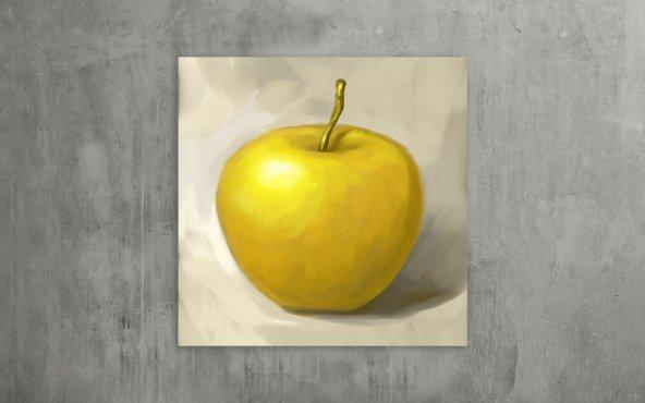 Sarı Elma Dekoratif Kanvas Tablo