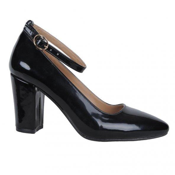 Kaplan 552 7Cm Atkılı Kare Topuk Bayan Stiletto Ayakkabı