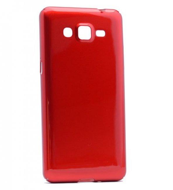 Samsung Galaxy J7 2016 Kılıf Parlak Kapak Kırmızı + Kırılmaz Cam Ekran Koruyucu