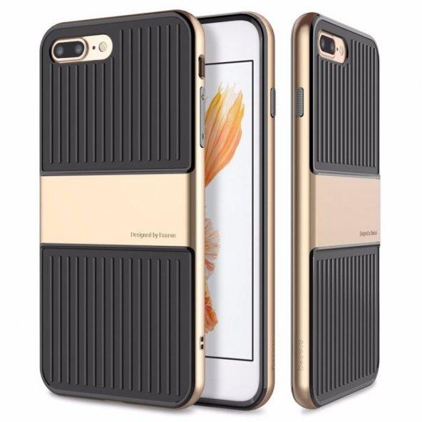 Baseus Travel Gold iPhone 8 Plus Kılıf Arka Koruyucu Kapak