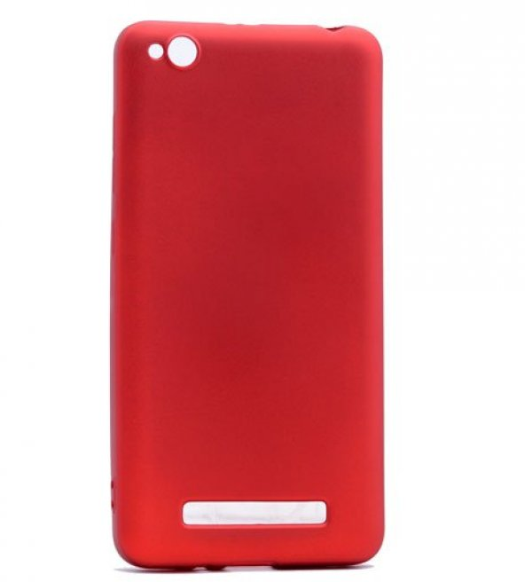Xiaomi Redmi 4a Kılıf Silikon Premium Kapak Kırmızı + Kırılmaz Cam Ekran Koruyucu