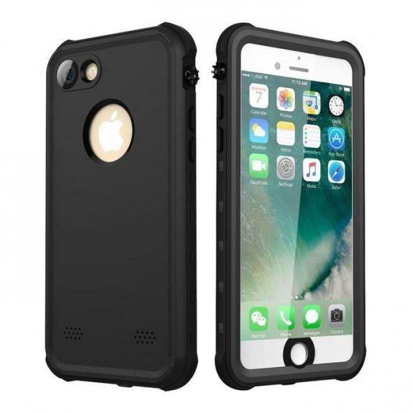 Apple iPhone 7 Su Geçirmez Siyah Kılıf Arka Koruyucu Kapak