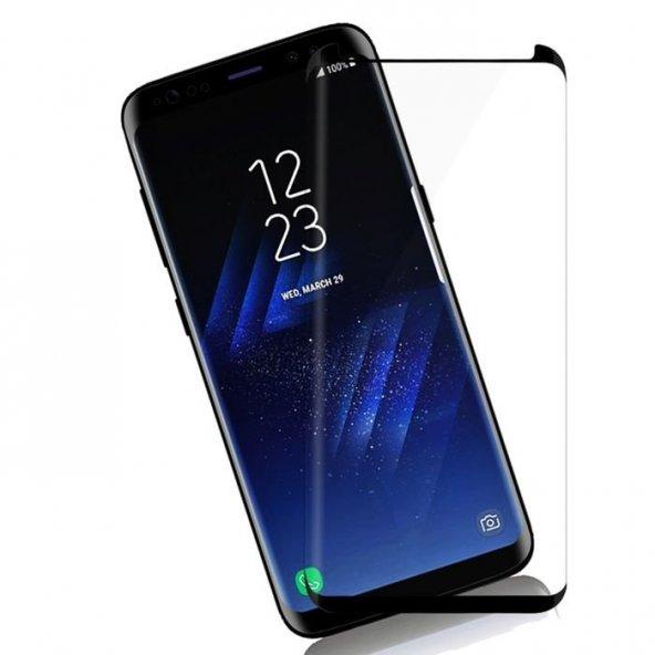 Samsung Galaxy S8 Kavisli Ekran Koruyucu Siyah