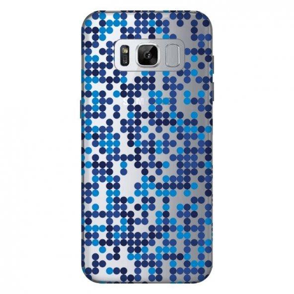 Samsung Galaxy S8 Kılıf Baskılı Silikon Kap Kapak + Kırılmaz Cam Ekran Koruyucu