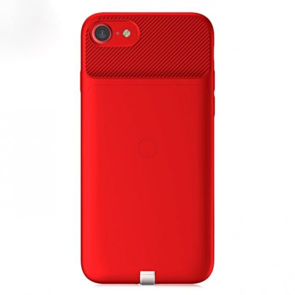 Baseus iPhone 7 - 8 Wireless Dönüştürücü Kırmızı Kılıf Arka Koruyucu Kapak